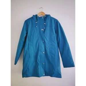 Teal blue ASOS raincoat